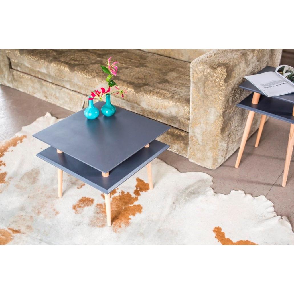 UFO-Quadratischer Tisch   Helles Türkis