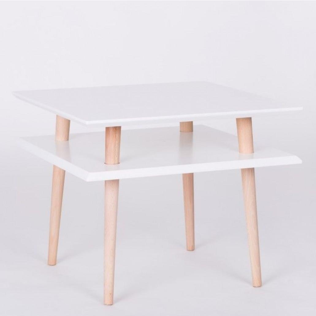 UFO Square Table   White