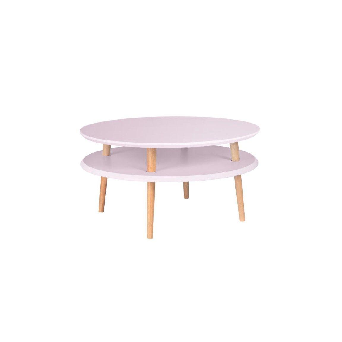 UFO Round Coffee Table   Dusky Pink