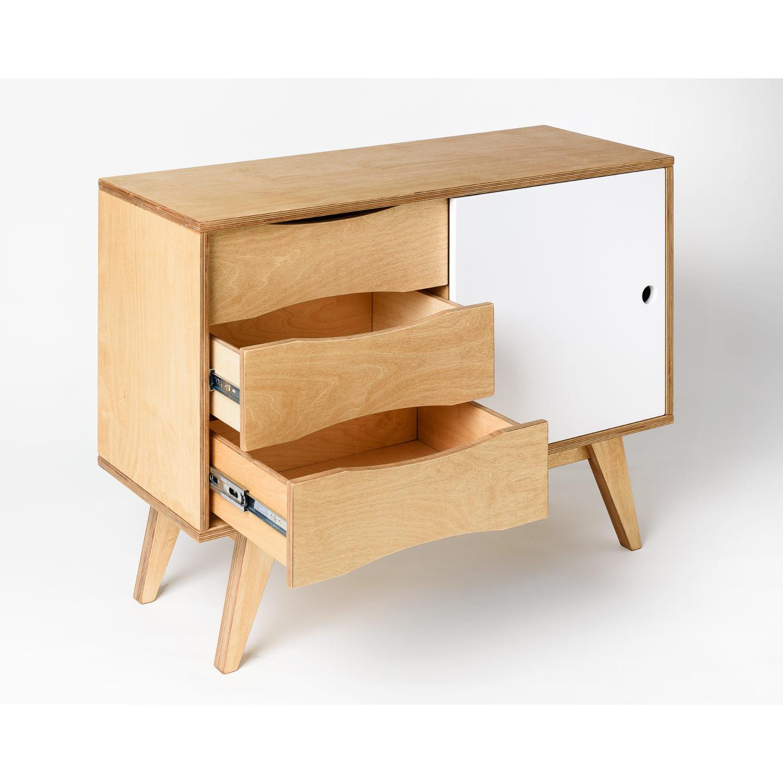 Sideboard SoSixties 1 Door | Oak + White Oilwaxed