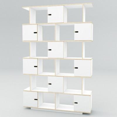 Regal PIX 150 cm 6 Ebenen | Weißes Film-Sperrholz