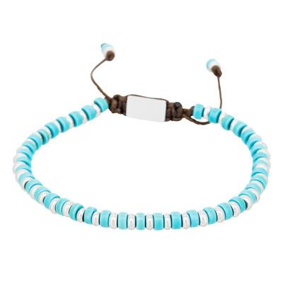 Perlenarmband | Blue Disk Stone