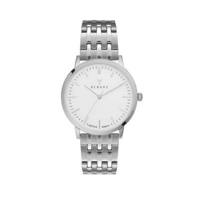 Elite White Silver Watch | Unisex