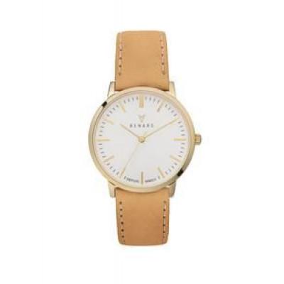 Elite White Gold Nude Watch