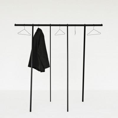 Kleiderständer-Garderobe | Schwarz