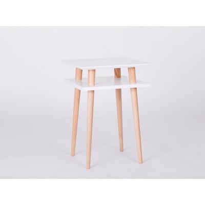 UFO-Quadratischer Tisch | Weiß
