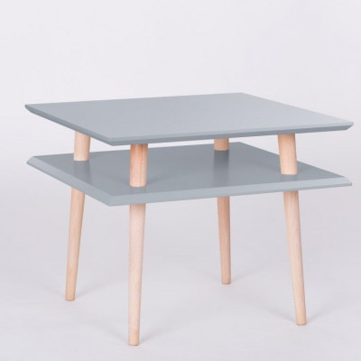 UFO-Quadratischer Tisch | Dunkelgrau