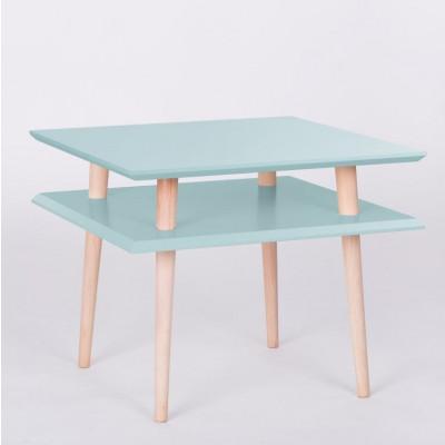 UFO-Quadratischer Tisch | Helles Türkis