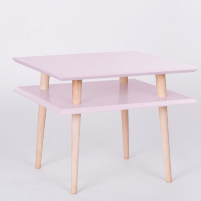 UFO Quadratischer Tisch | Rosa