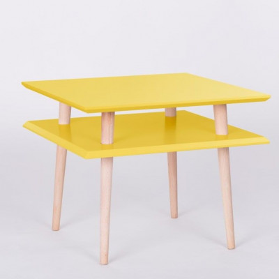 UFO-Quadratischer Tisch | Gelb