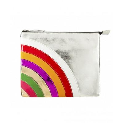 Rainbow Leather iPad Clutch