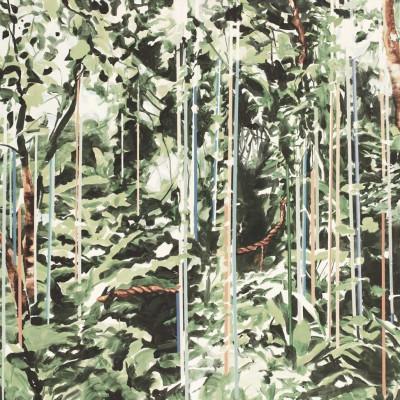 Tapeten Regentropfen | Vintage Grün
