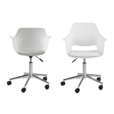 Schreibtischstuhl Mana | 2er-Satz | Weiß