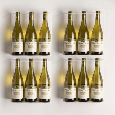 TEEwine Flaschenhalter Weiß | Set/4