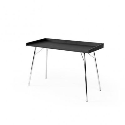 Schreibtisch Rayburn | Schwarze Eiche-Chrome