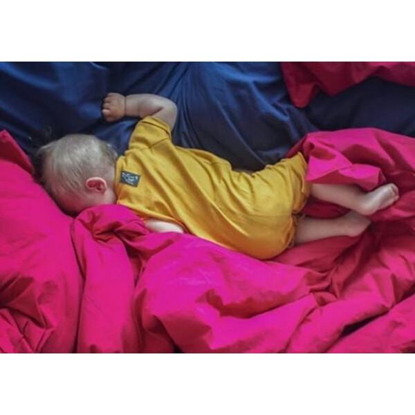 Bettwäsche-Set   Basic Himbeere