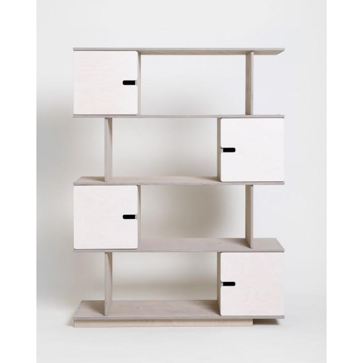 PIX Shelf | Pebble Grey Oilwaxed Doors White-4