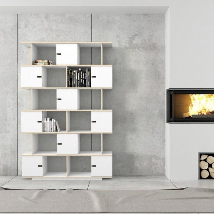 Shelf PIX 150 cm 6 Levels | White Film Plywood