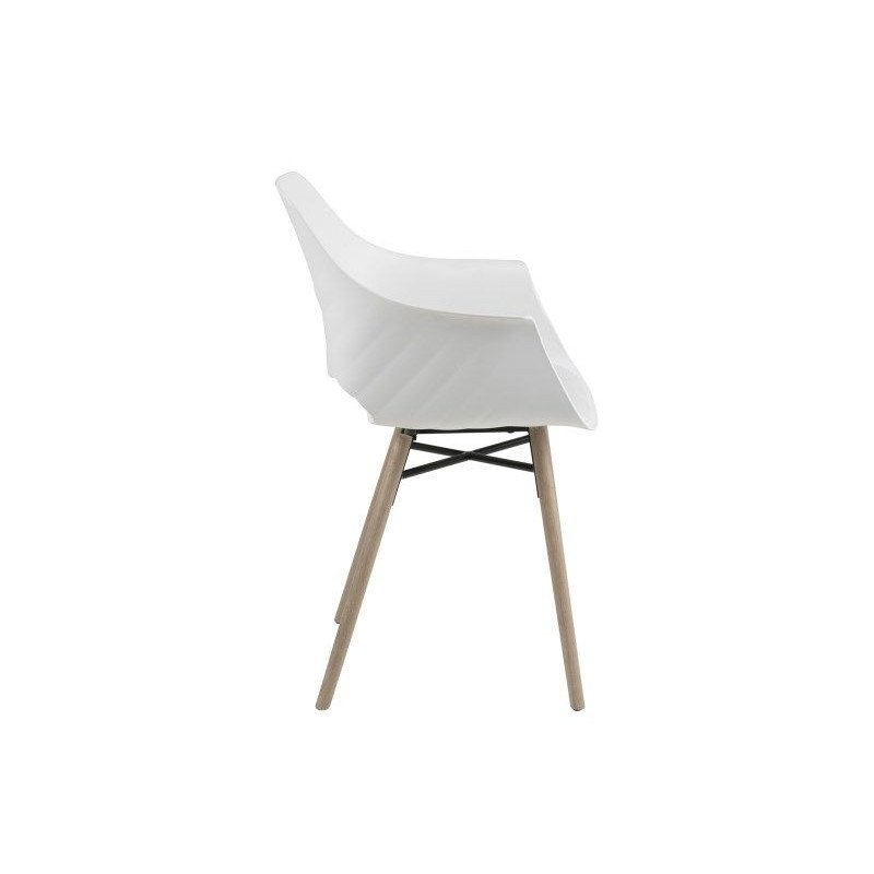 Set of 2 Chairs Clive | White