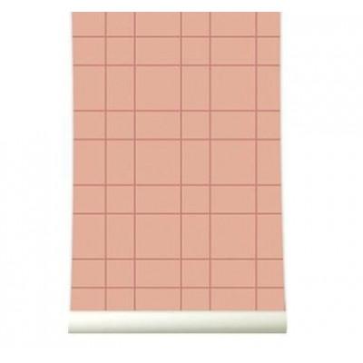 Wallpaper | Grid Copperblush