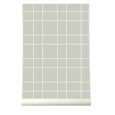 Wallpaper | Grid Warm Grey