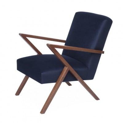 Retrostar© Chair Velvet Line | Navy Blue