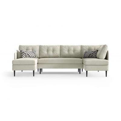 Sofabett Panorma Memphis Rechts | Weiß