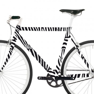Fahrradaufkleber | Zebra