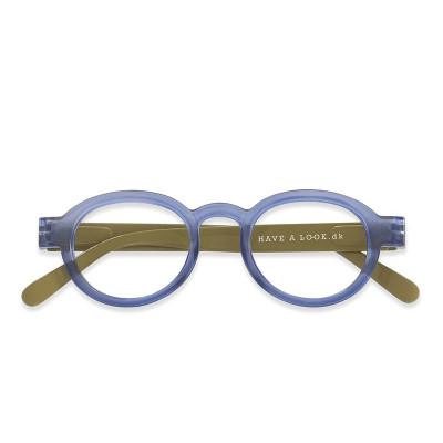 Reading Glasses Circle Twist | Blue/Lime