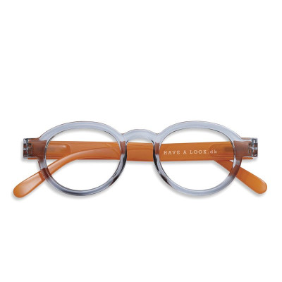 Reading Glasses Circle Twist | Grey/Orange