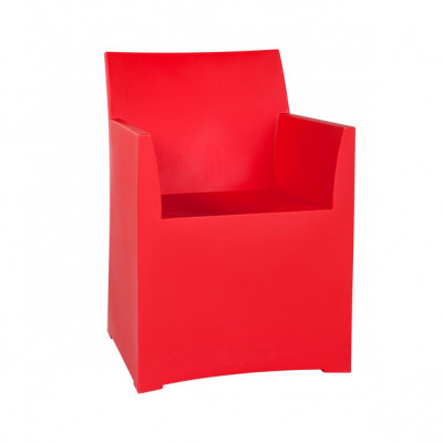 Rainbow Stool with cushion - Red