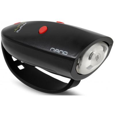 Fahrradlicht mit 15 Soundeffekten Mini Hornit Nano | Schwarz/Rot