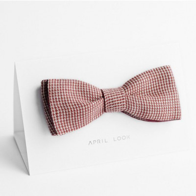 Reversible Bow Tie | Red Houndstooth