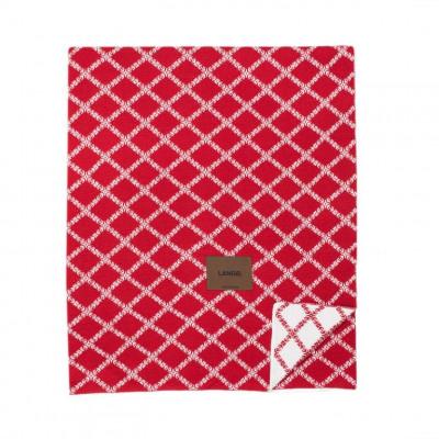 Merinowool Blanket | Red - White