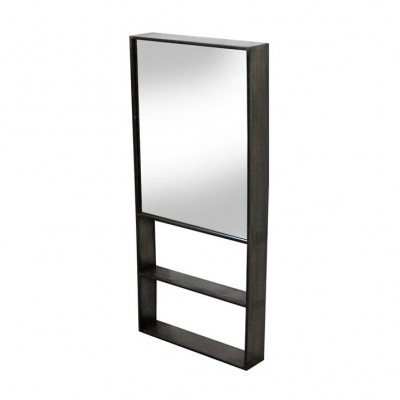 Spiegel mit Regal-Meridian | Metall natur