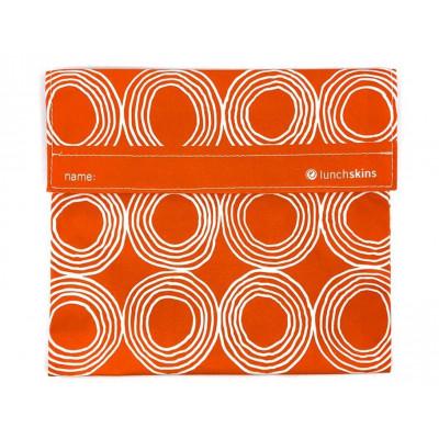 Wiederverwendbare Velcro-Sandwich-Tasche Big | Rote Kreise