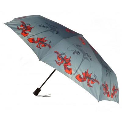 Red Orchid Folding Umbrella