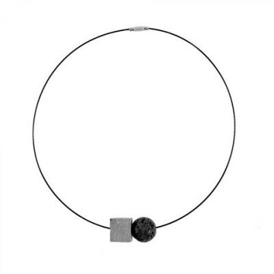 Halskette RELIEF | Grau & Schwarz