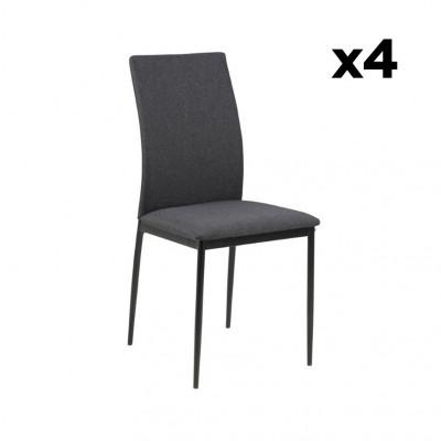 4-er Set Esszimmerstühle Remina | Grau