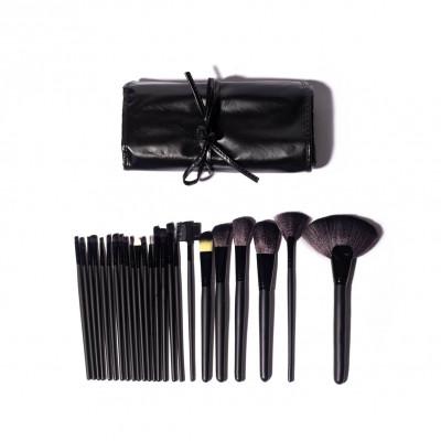 Set mit 24 Make-up-Pinseln | Schwarz