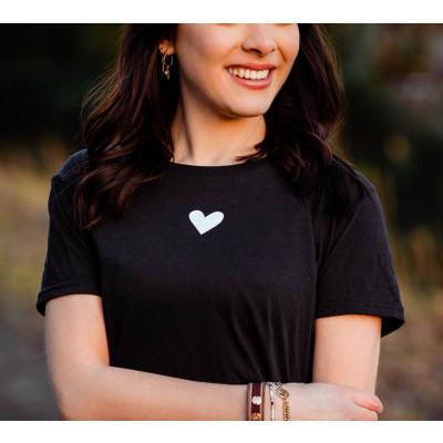 T-Shirt Heart   Schwarz