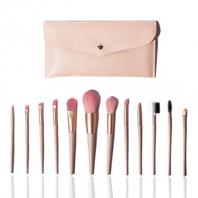 Set mit 12 Make-up-Pinseln | Rosa
