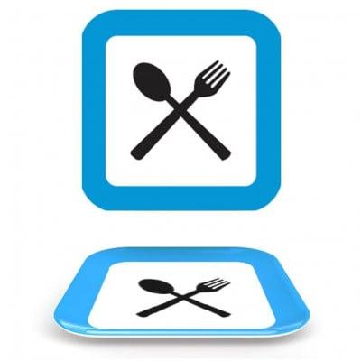 Straßenschild Suppenteller Quadrat- Restaurant