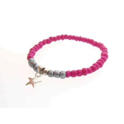 Kids Bracelet  |  Pink / Silver