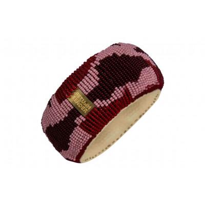 Bracelet Pearl Big | Red / Pink