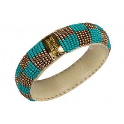 Bracelet Pearl Small | Gold / Aqua