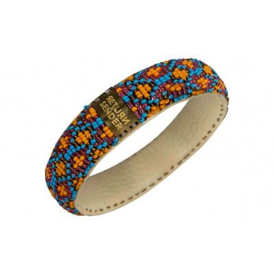 Bracelet Pearl Small | Light Blue / Orange