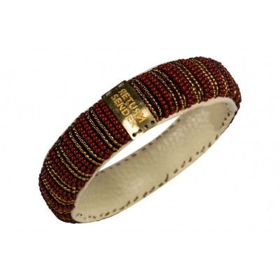 Bracelet Pearl Small | Red / Gold