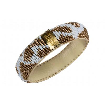 Bracelet Pearl Small | White / Gold