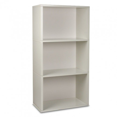 Rectangle Plus 3 Shelf   White